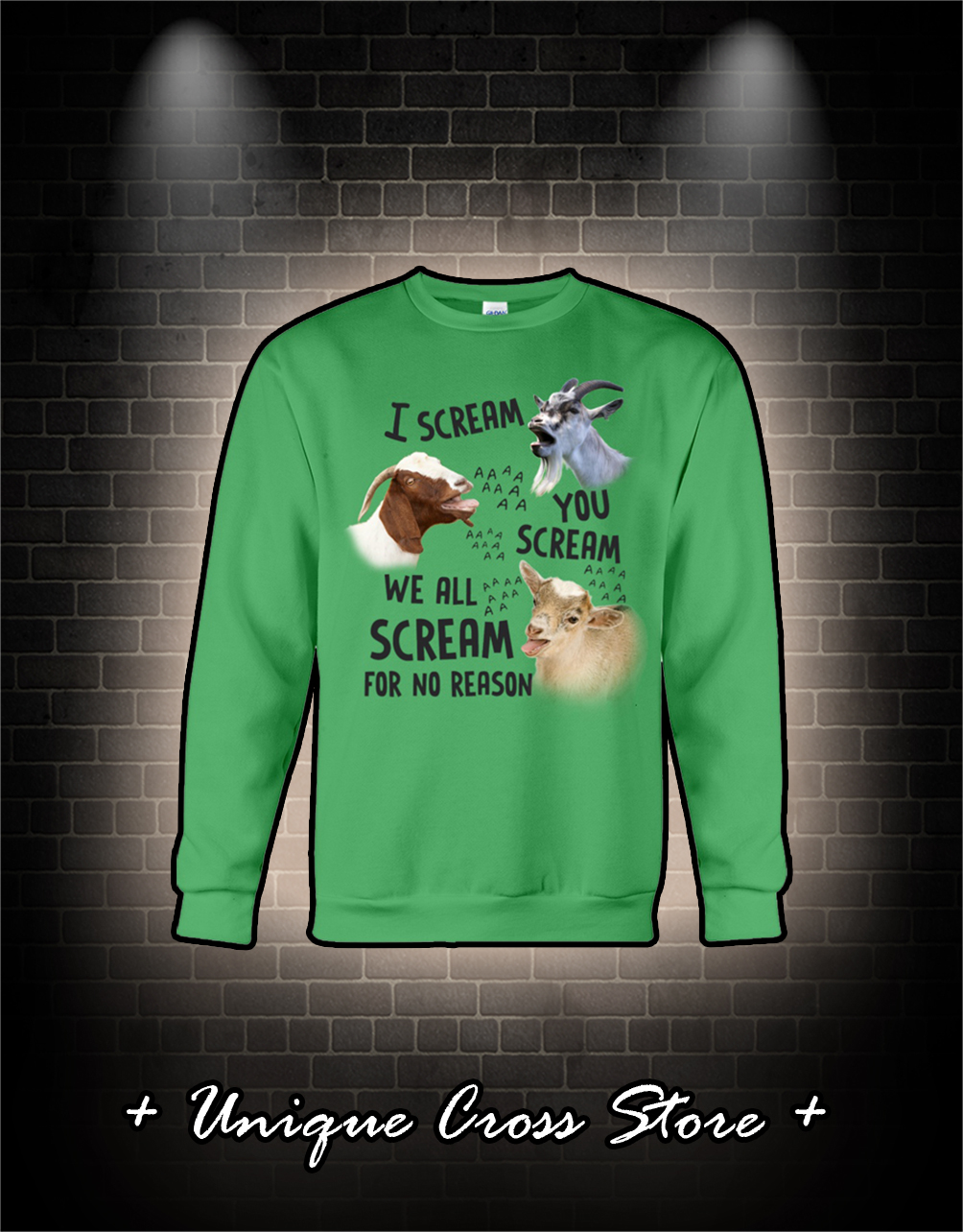 Goat I scream you scream we all scream for no reason shirt
