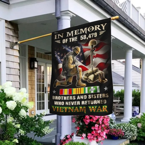 In memory brothers and sisters who never returned Vietnam veteran flag