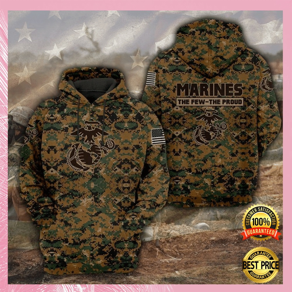 [HOT] MARINES THE FEW THE PROUD ALL OVER PRINTED 3D HOODIE