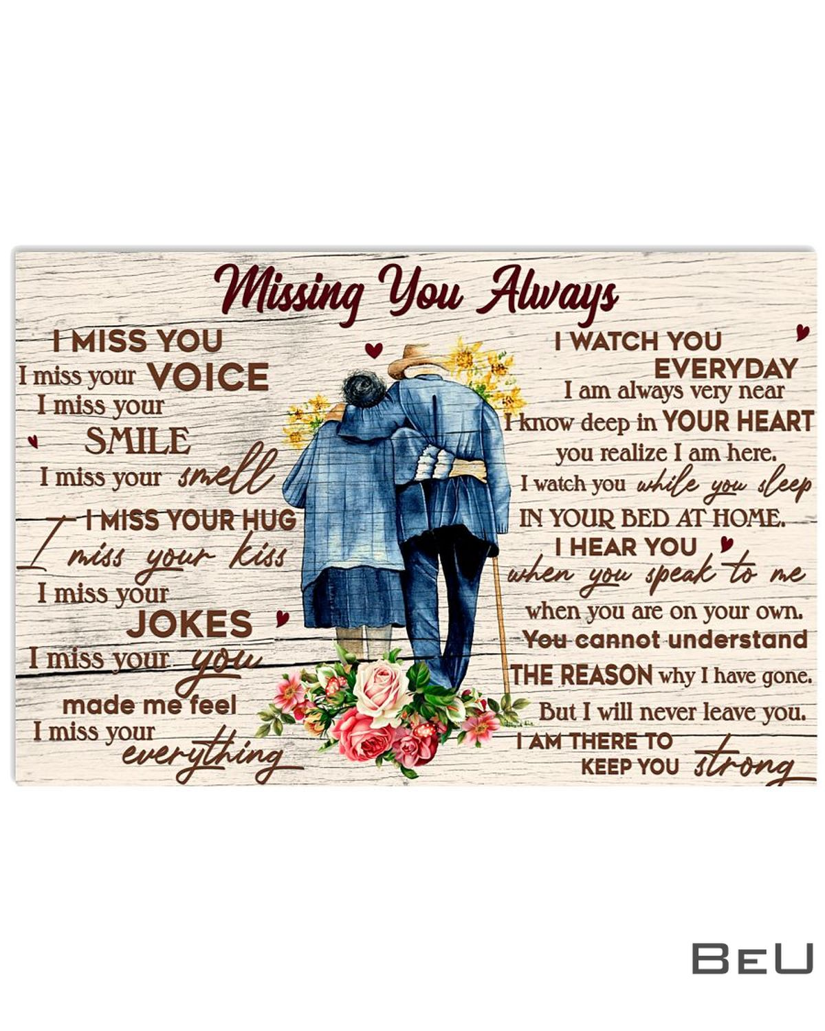 Missing You Always I Miss Your Voice Smile Smell Poster