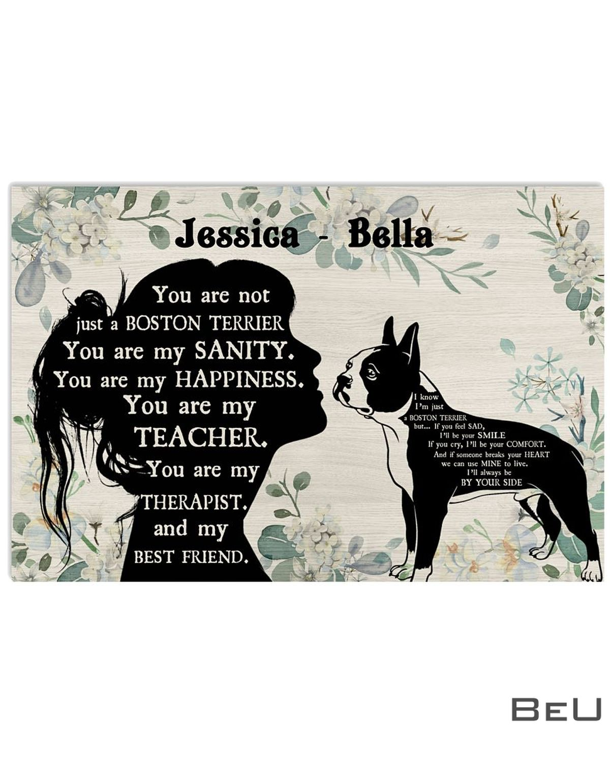 Personalized You Are Not Just A Boston Terrier You Are My Sanity Poster