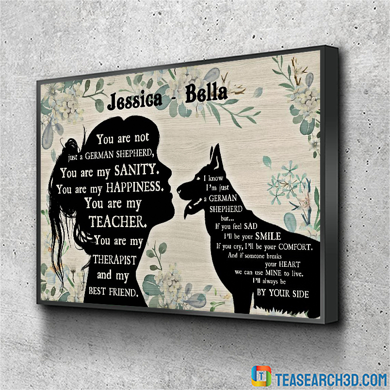 You are not just a German Shepherd personalized custom name poster