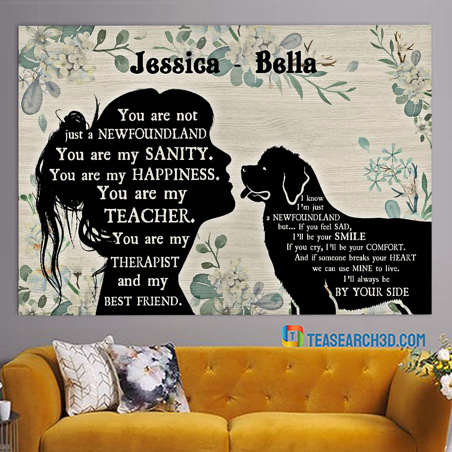 Personalized custom name You are not just a Newfoundland poster