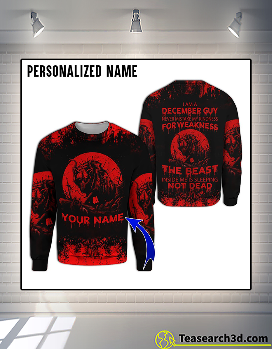 Personalized custom name december guy 3d all over printed hoodie