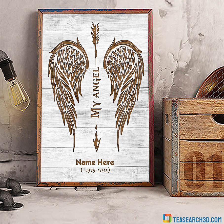 Personalized custom name my angel poster