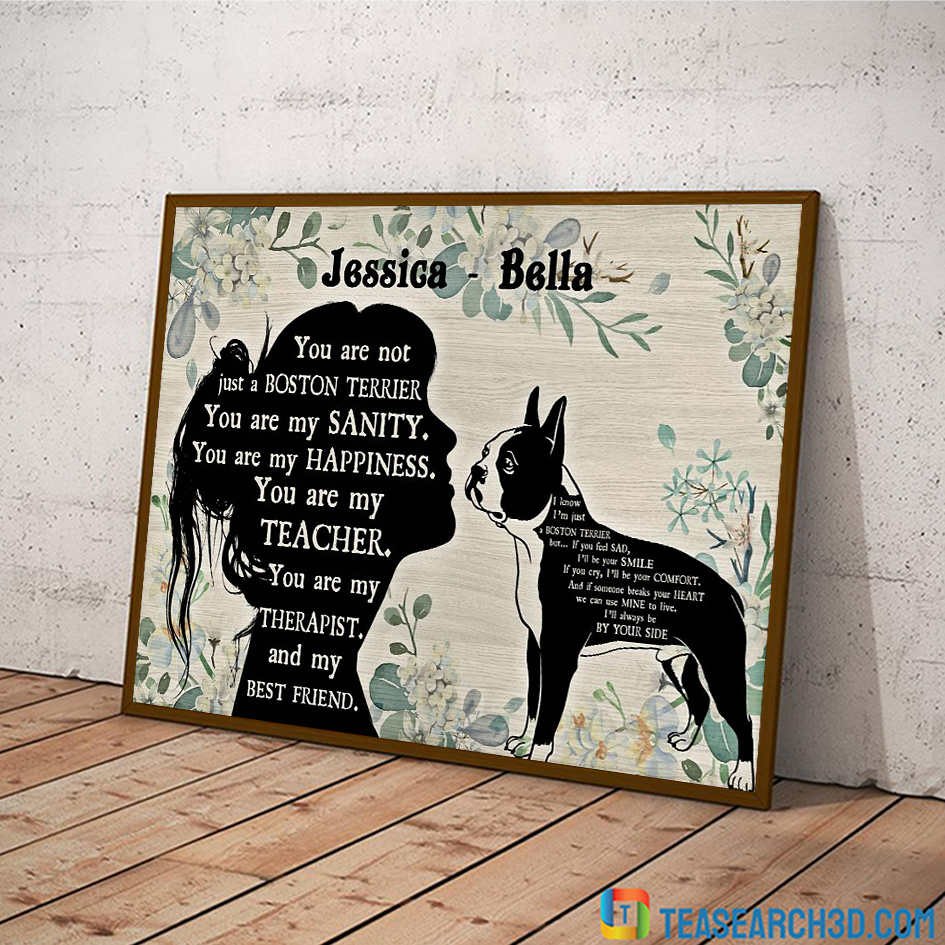 You are not just a boston terrier personalized custom name poster