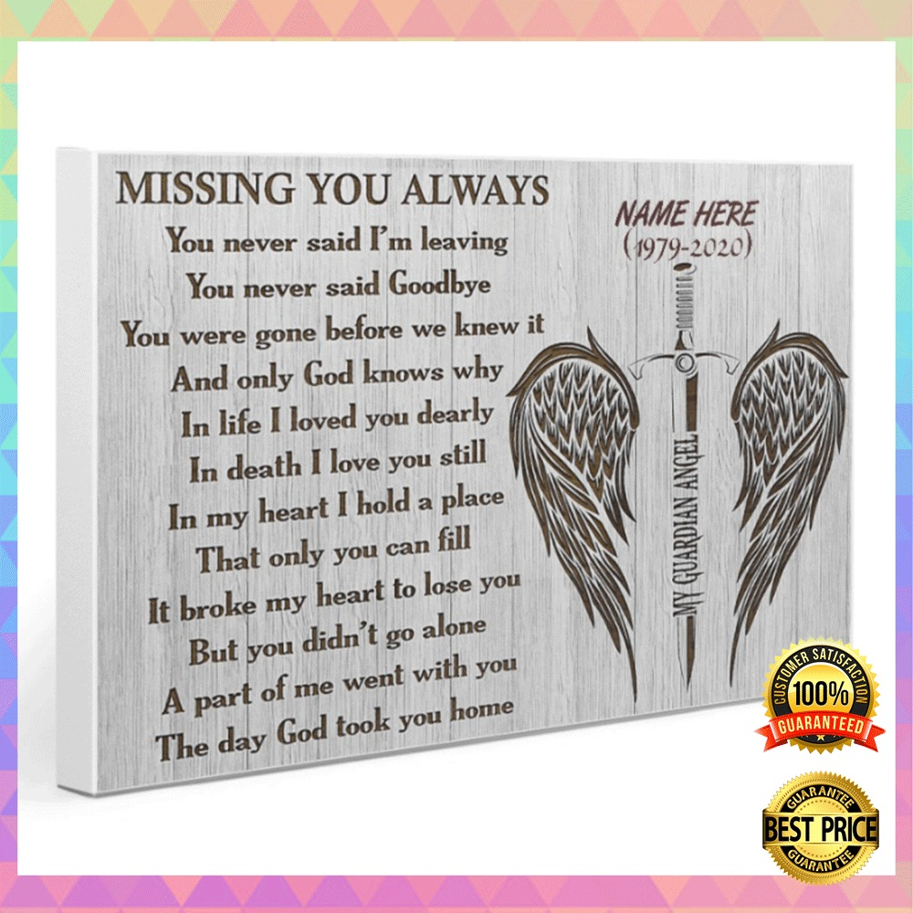 [NICE] PERSONALIZED MY GUARDIAN ANGEL MISSING YOU ALWAYS CANVAS