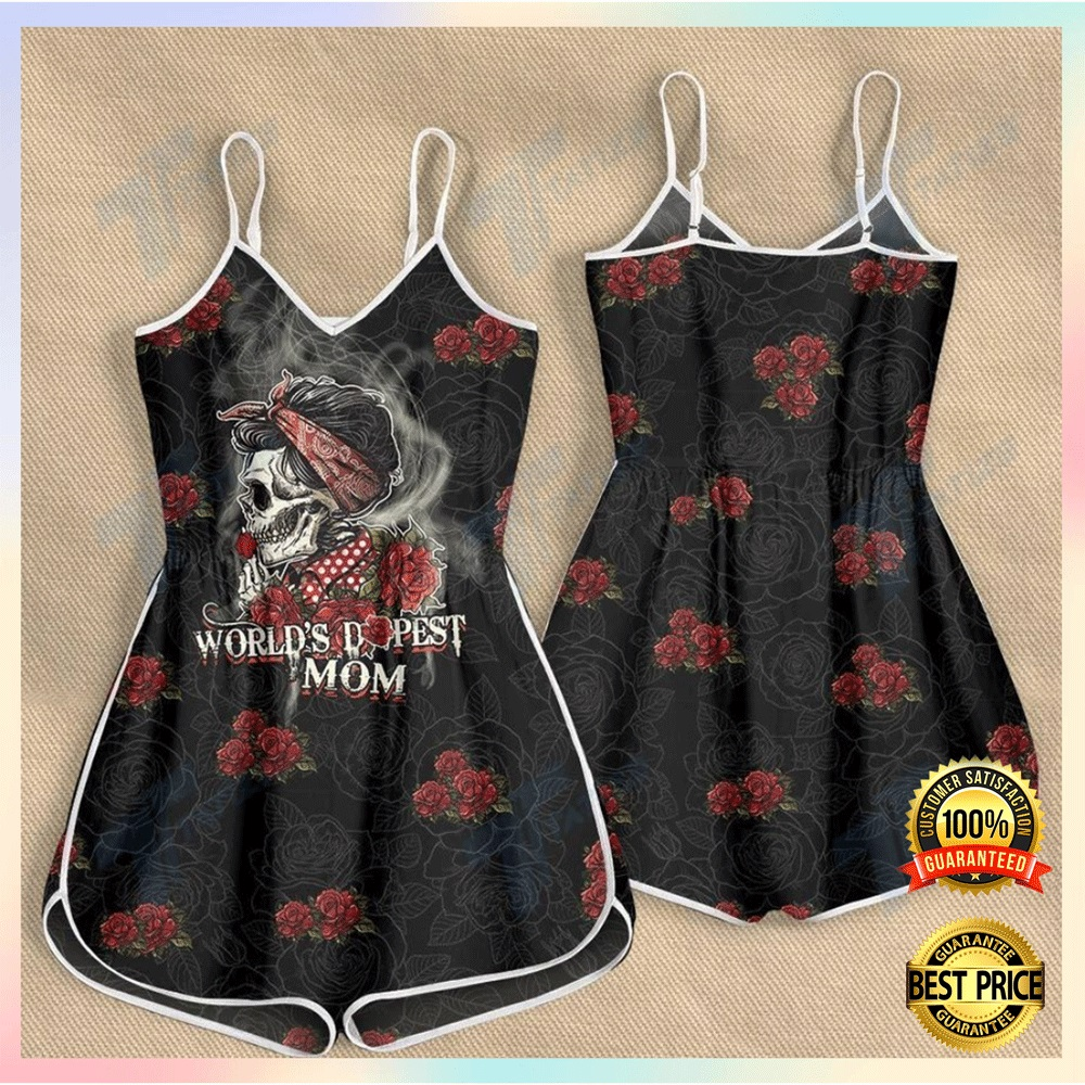 [NEW] SKULL WORLD'S DOPEST MOM ROMPER