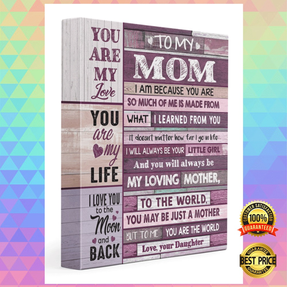 [HOT] TO MY MOM I AM BECAUSE YOU ARE SO MUCH OF ME IS MADE CANVAS