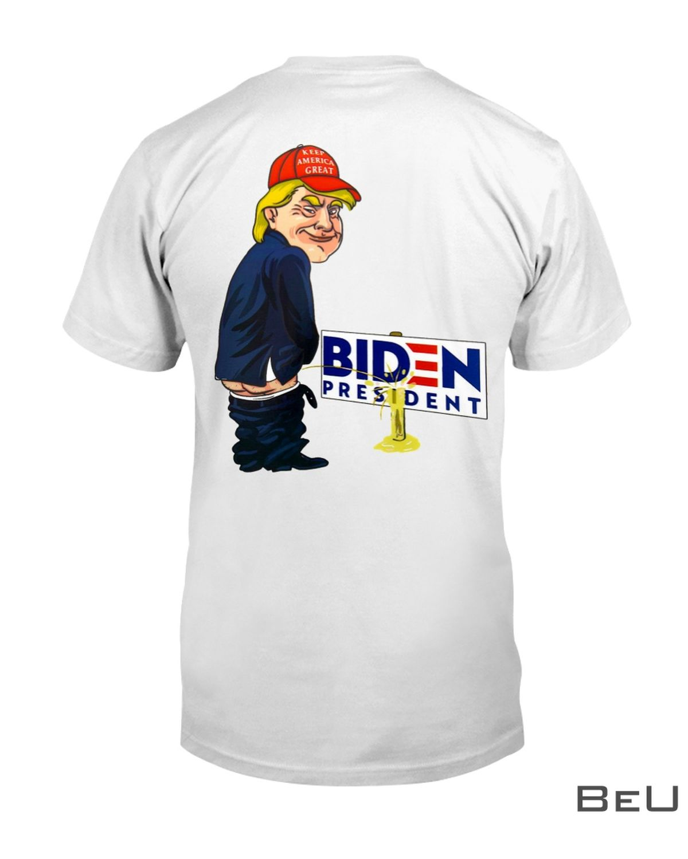 Trump Peeing Pissing on Biden Shirt, hoodie