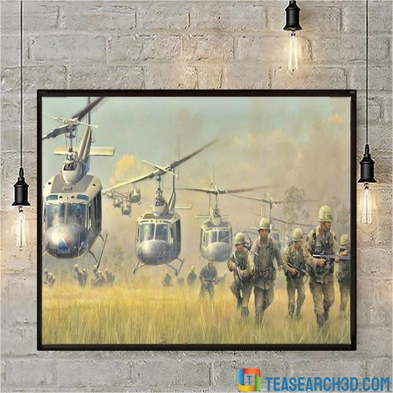 Vietnam war helicopter canvas