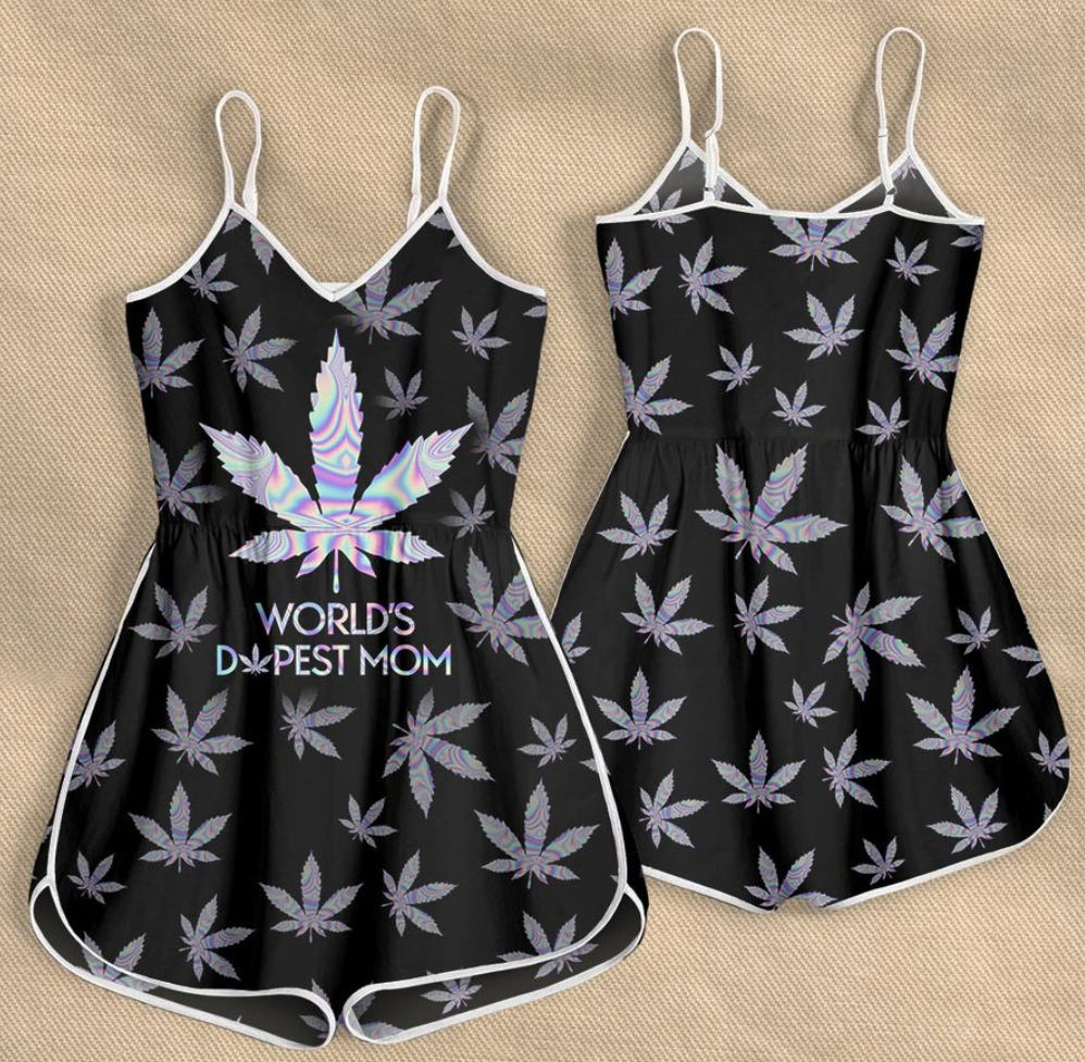 [LIMITED] WEED WORLD'S DOPEST MOM ROMPER