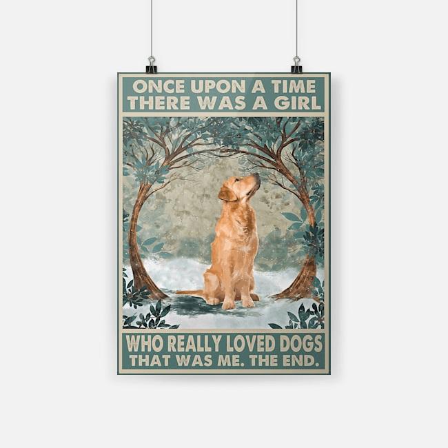 Who really love Golden Retriever vertical poster