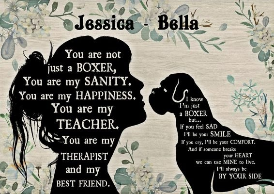 You are not just a Boxer personalized custom name poster