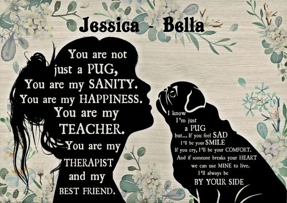 You are not just a Pug personalized custom name poster