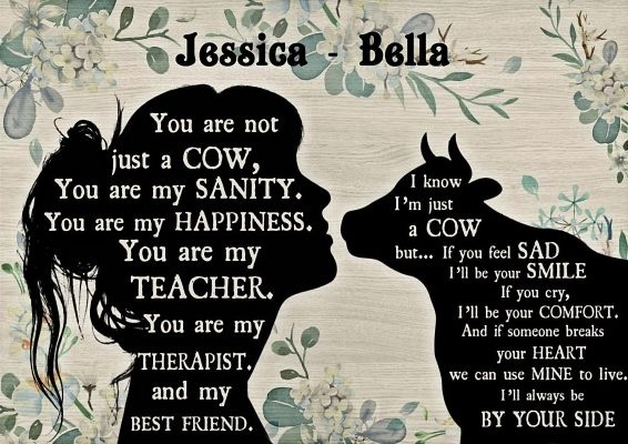 You are not just a cow personalized custom name poster