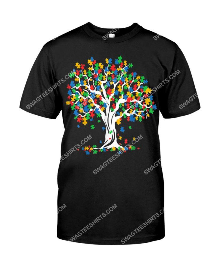 Amazing autism awareness tree of life shirt