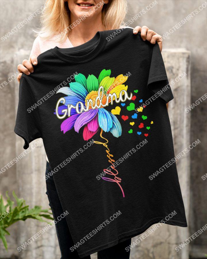 Amazing blessed grandma flower shirt