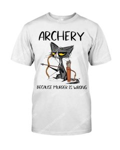 Amazing cat archery because murder is wrong shirt