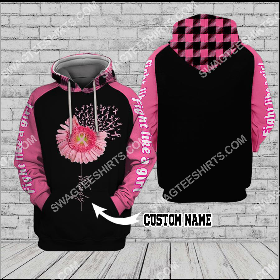 Amazing custom name breast cancer awareness daisy flower all over printed shirt
