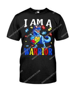 Amazing dinosaur i am a warrior autism awareness shirt