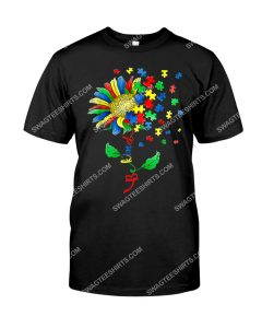 Amazing flower be kind autism awareness shirt