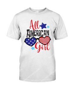 Amazing fourth of july all american girl shirt