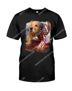Amazing fourth of july golden retriever dog lover shirt