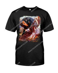 Amazing fourth of july rottweiler dog lover shirt