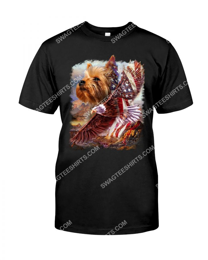 Amazing fourth of july yorkshire terrier dog lover shirt
