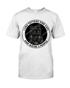 Amazing grumpy cat i like tattoos and cats and maybe 3 people shirt