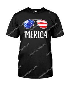 Amazing happy fourth of july merica sunglasses shirt
