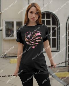 Amazing hunting country girl heart pattern shirt