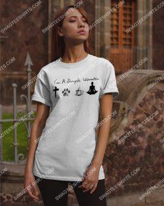 Amazing i'm a simple woman jesus dog coffee yoga shirt