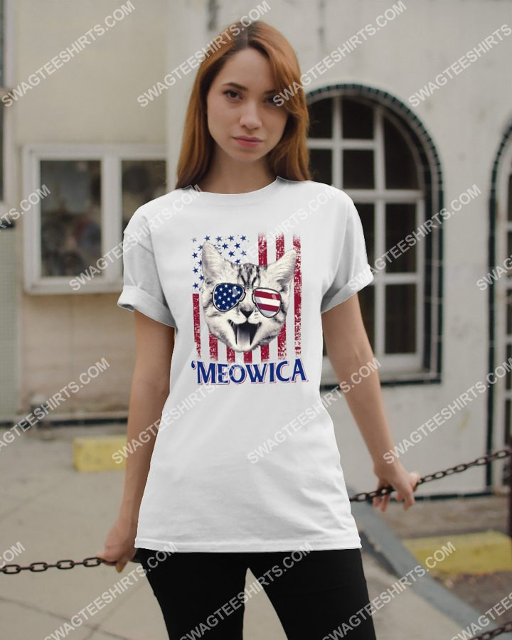 Amazing meowica cat lover independence day shirt