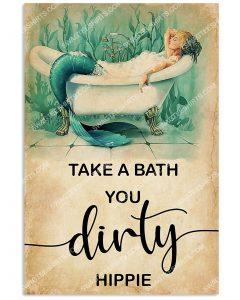 [Amazing mariashirts] mermaid take a bath you dirty hippie vintage poster