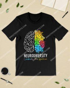 Amazing neurodiversity celebrate the spectrum colorful shirt