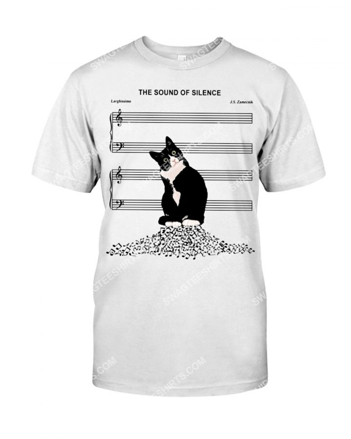 [Amazing mariashirts] the sound of silence music and cat lover shirt