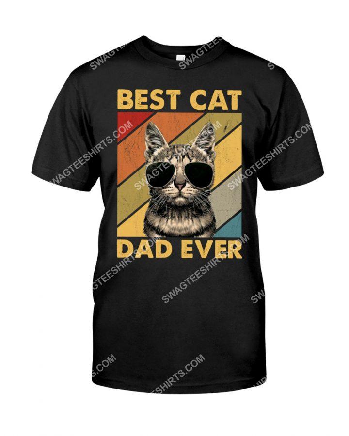 [Amazing mariashirts] vintage best cat dad ever shirt