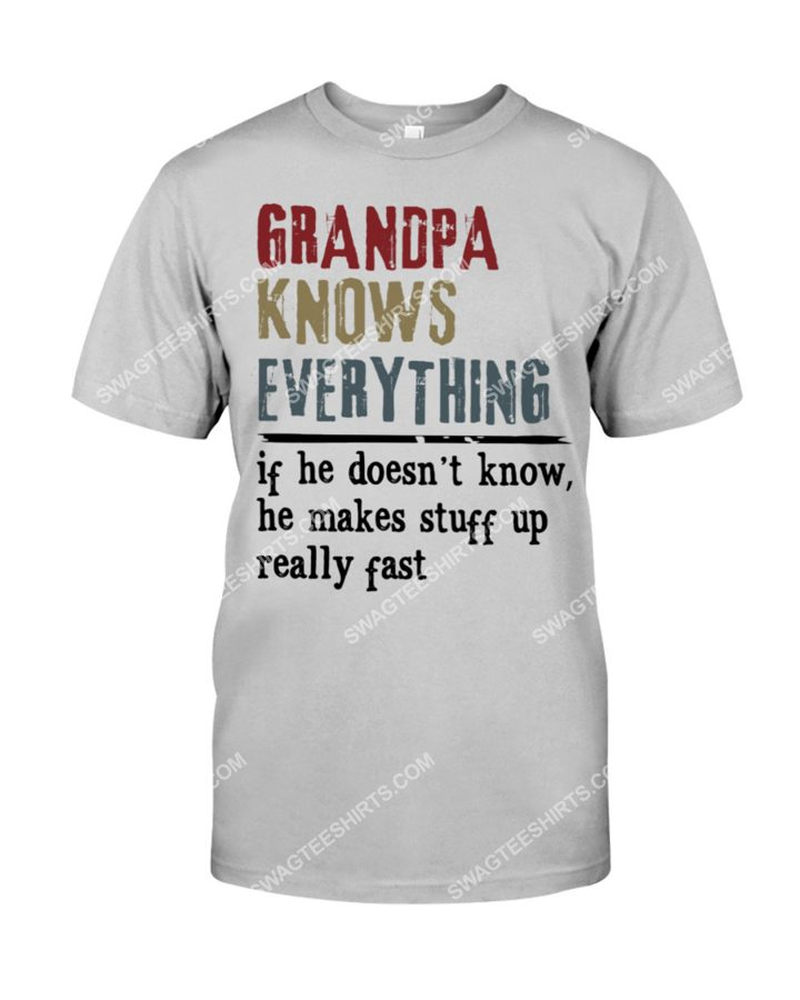 Amazing vintage grandpa knows everything fathers day shirt