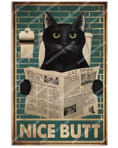 [Amazing mariashirts] vintage nice butt black cat poster