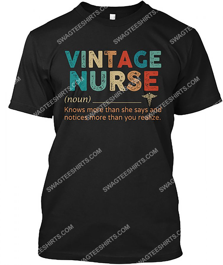 Amazing vintage nurse definition shirt