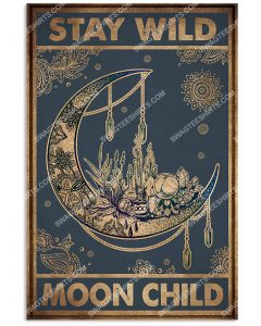[Amazing mariashirts] vintage stay wild moon child poster