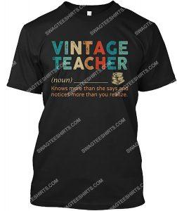 Amazing vintage teacher definition shirt