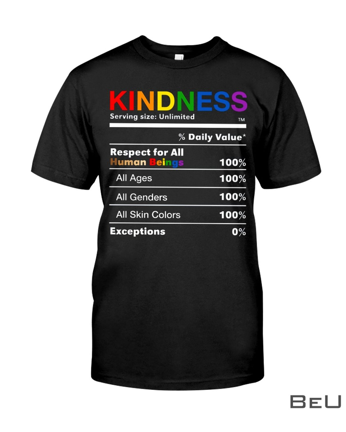 LGBT Kindness Respect For All Human Beings Shirt, hoodie, tank top