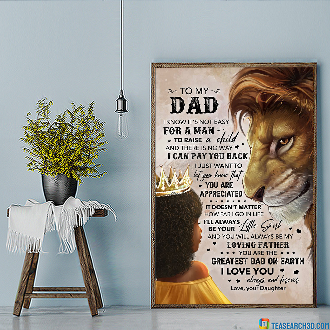 Lion Daughter To My Dad Poster