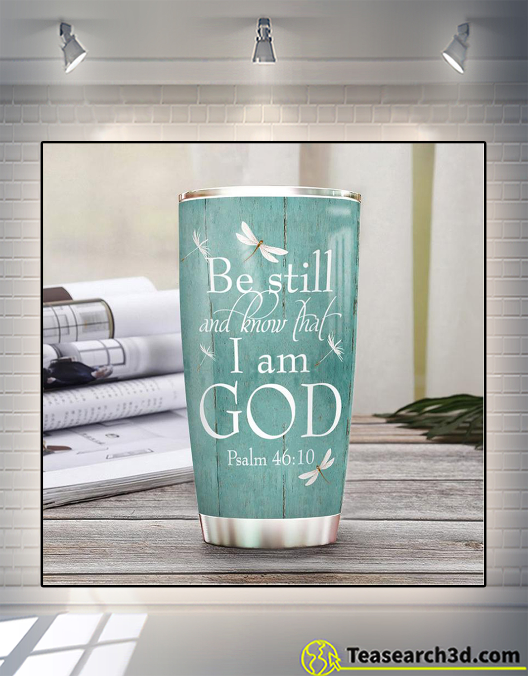 Personalized custom name faith be still and know that I am god tumbler