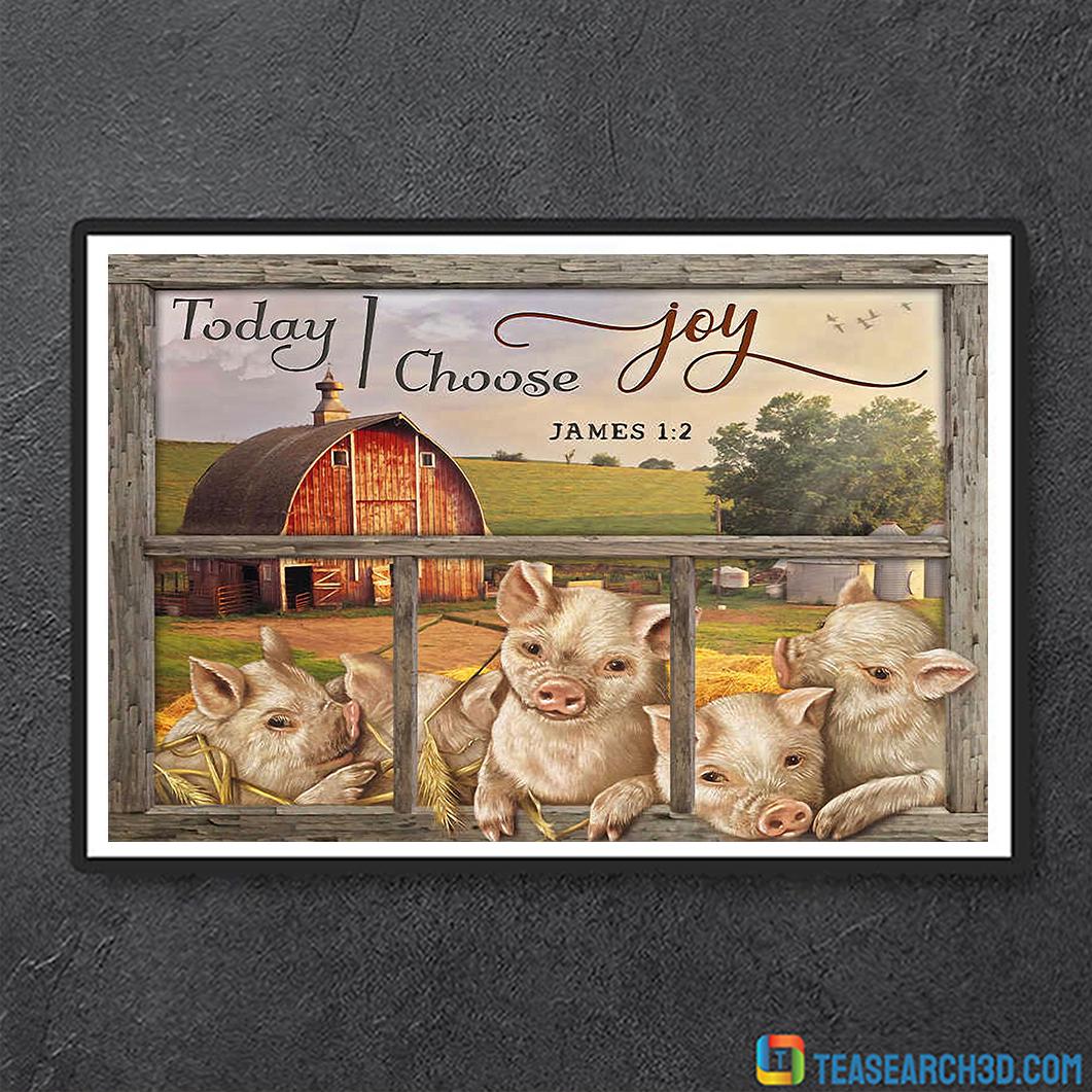 Today i choose joy pigs farmhouse canvas