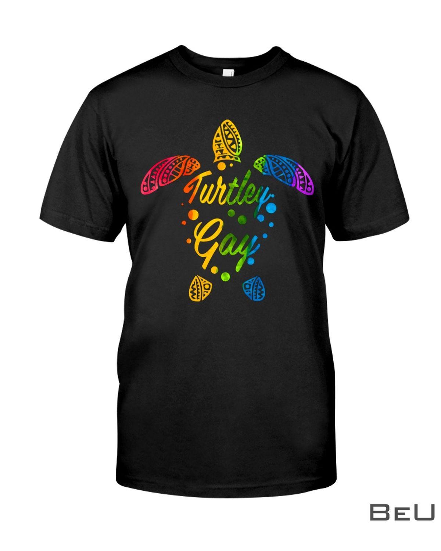 Turtley Gay Rainbow Shirt, hoodie, tank top