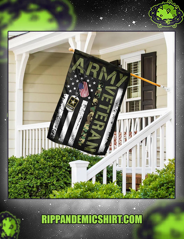 United states army veteran flag